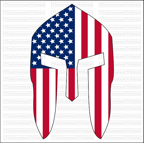 570x569 Spartan Helmet Front Usa Flag American Flag Eps Svg Png Jpg Vector