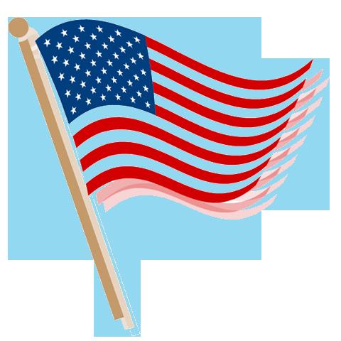 480x480 Waving American Flag Clip Art