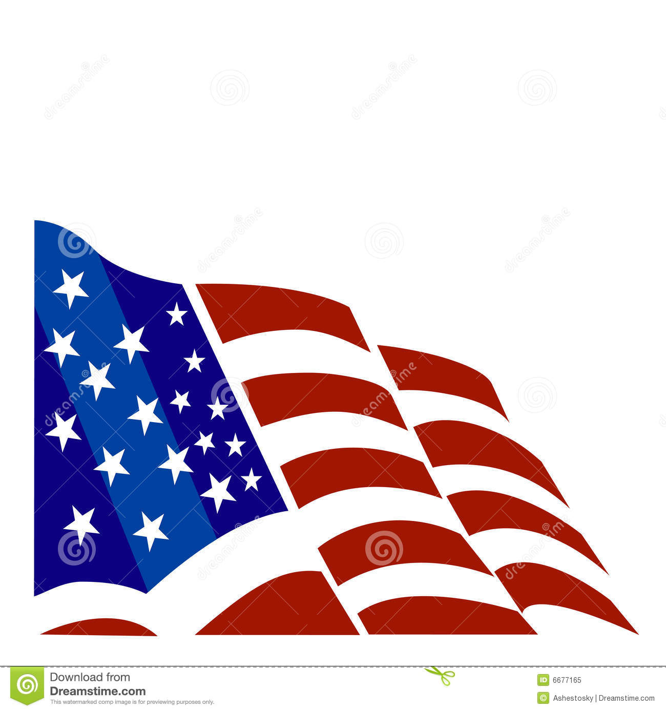 1300x1390 American Flag Vector Clipart