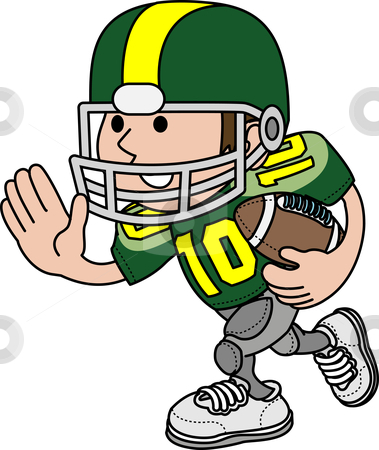 379x450 Playing American Football Clipart