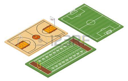 450x285 Isometric Ice Hockey Rink And Field Hockey Court Royalty Free