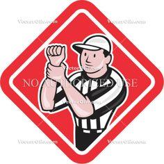 236x236 American Football, Artwork, Back Judge, Cartoon, Field Judge