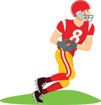 202x210 Receiver Clipart Football Player