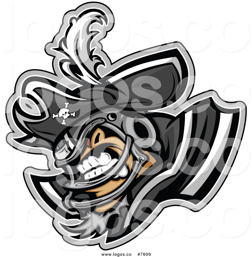 1024x1044 Royalty Free Clip Art Vector Logo Of A Pirate Football Player