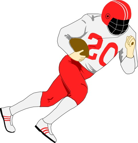 482x500 American Football Player Clip Art Cliparts