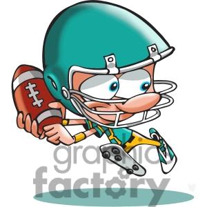 300x300 American Football Player Cartoon 390782 Vector Clip Art Image