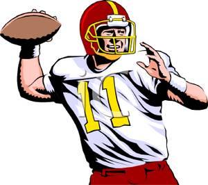 300x266 Cartoon Football Player Clipart