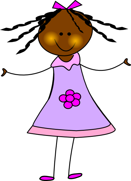432x598 African American Doll Clip Art