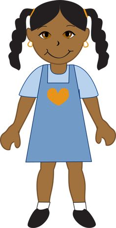 236x462 African American Girl Clipart