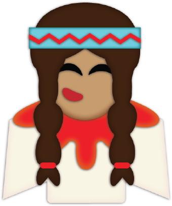 340x406 Indian Girl Braids Clip Art
