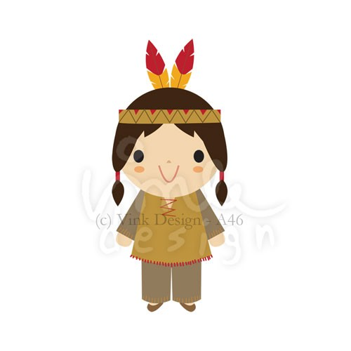 500x500 Indian Clipart Cute