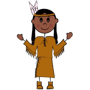 300x300 Native American Indian Clip Art