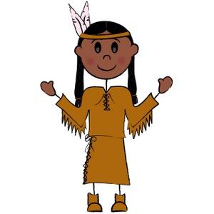 300x300 Native American Indian Clip Art