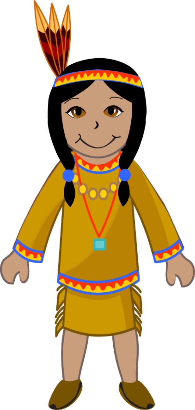 640x1345 Native American Clipart Walking