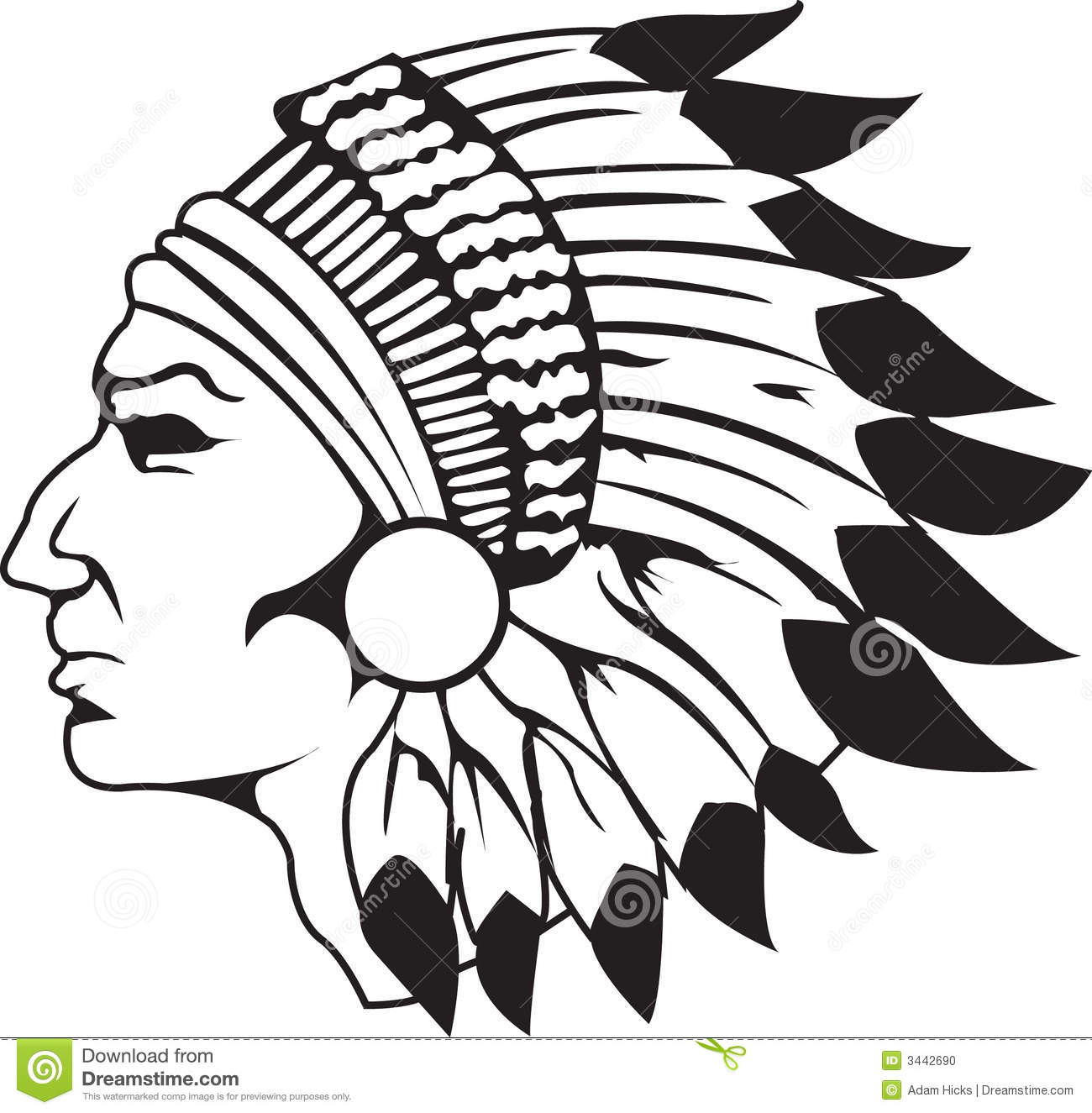 1300x1325 North American Indian Clipart