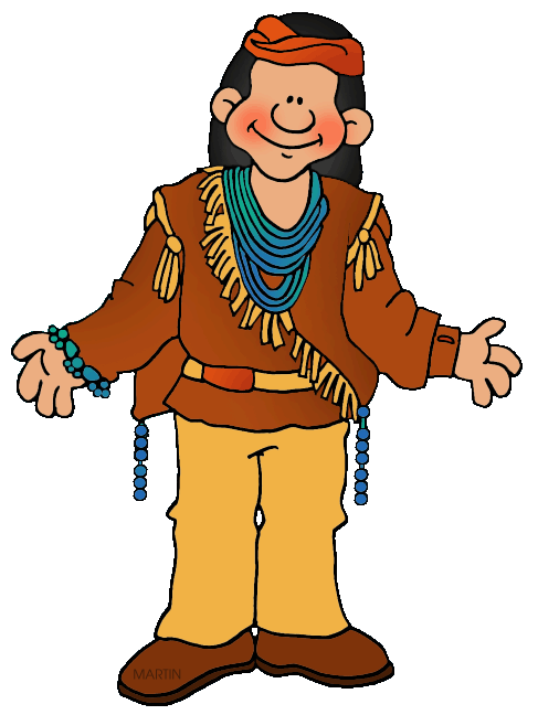 487x648 American Indian Man Clipart