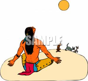 300x276 Clipart Picture Of An American Indian Man During A Ceremony