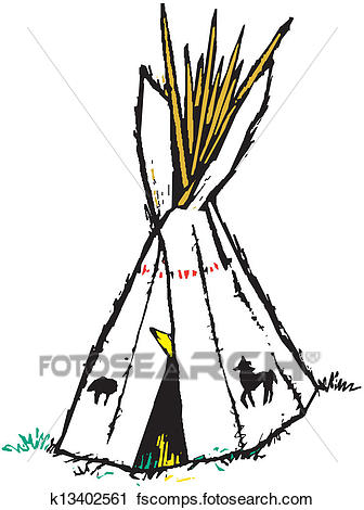 336x470 Clipart Of American Indian Wigwam K13402561