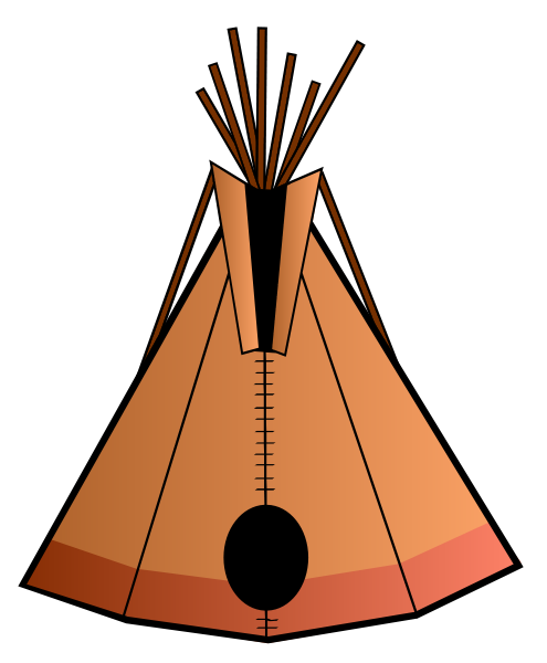 495x600 Free Native American Indian Clipart