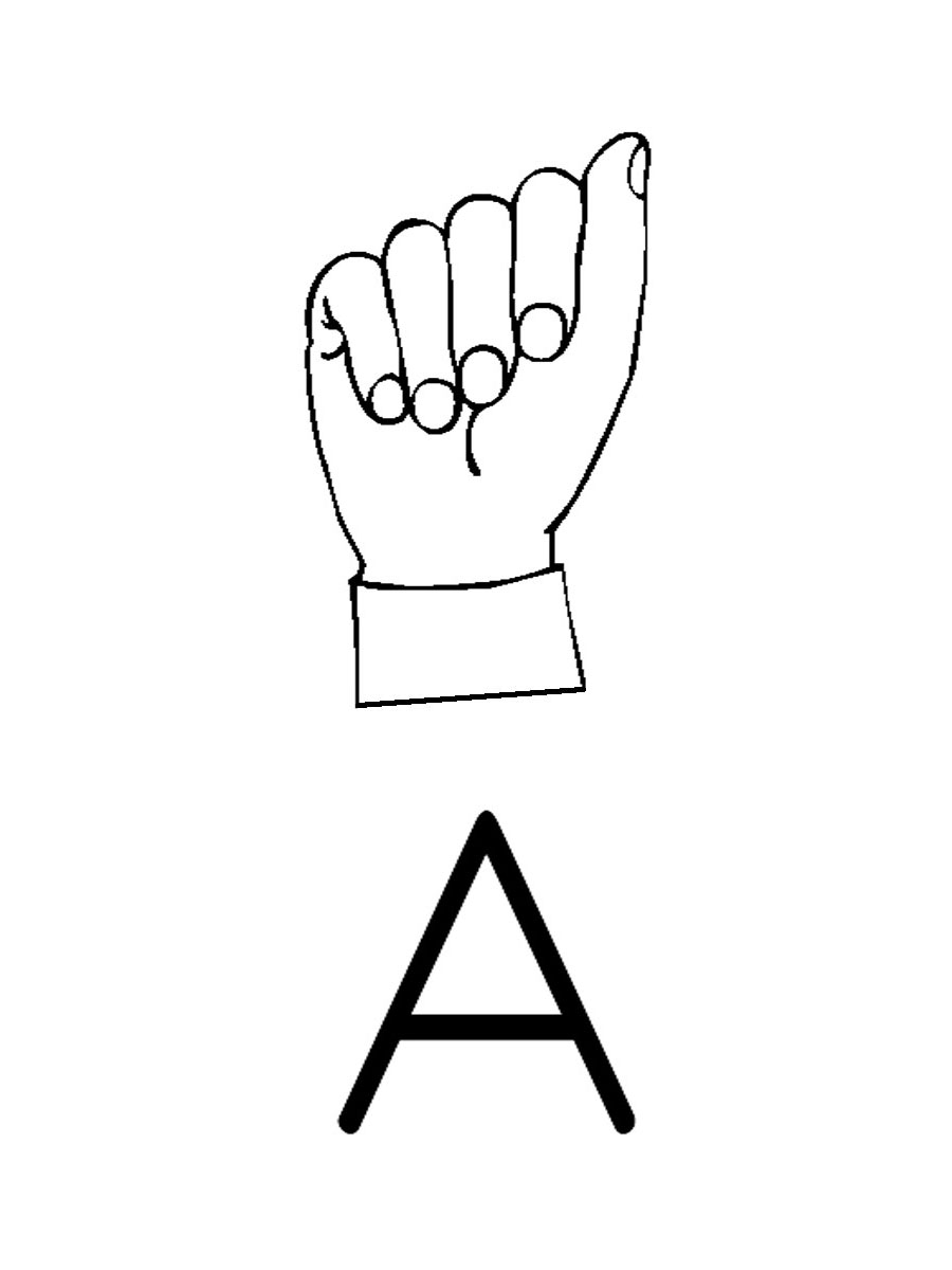 900x1200 American Sign Language Clipart