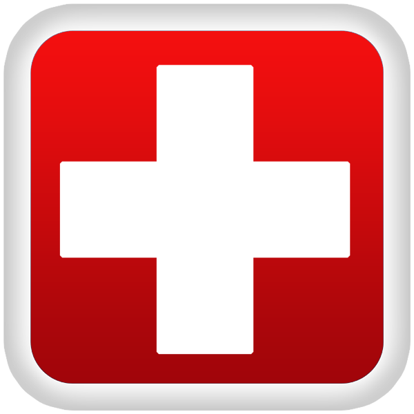 600x600 Medical Red Cross Symbol Clipart Image