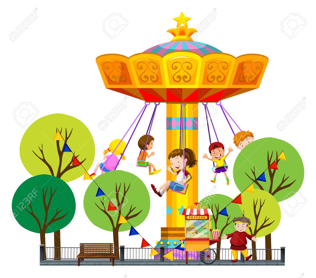 1300x1147 Amusement Park Clipart Children's Park