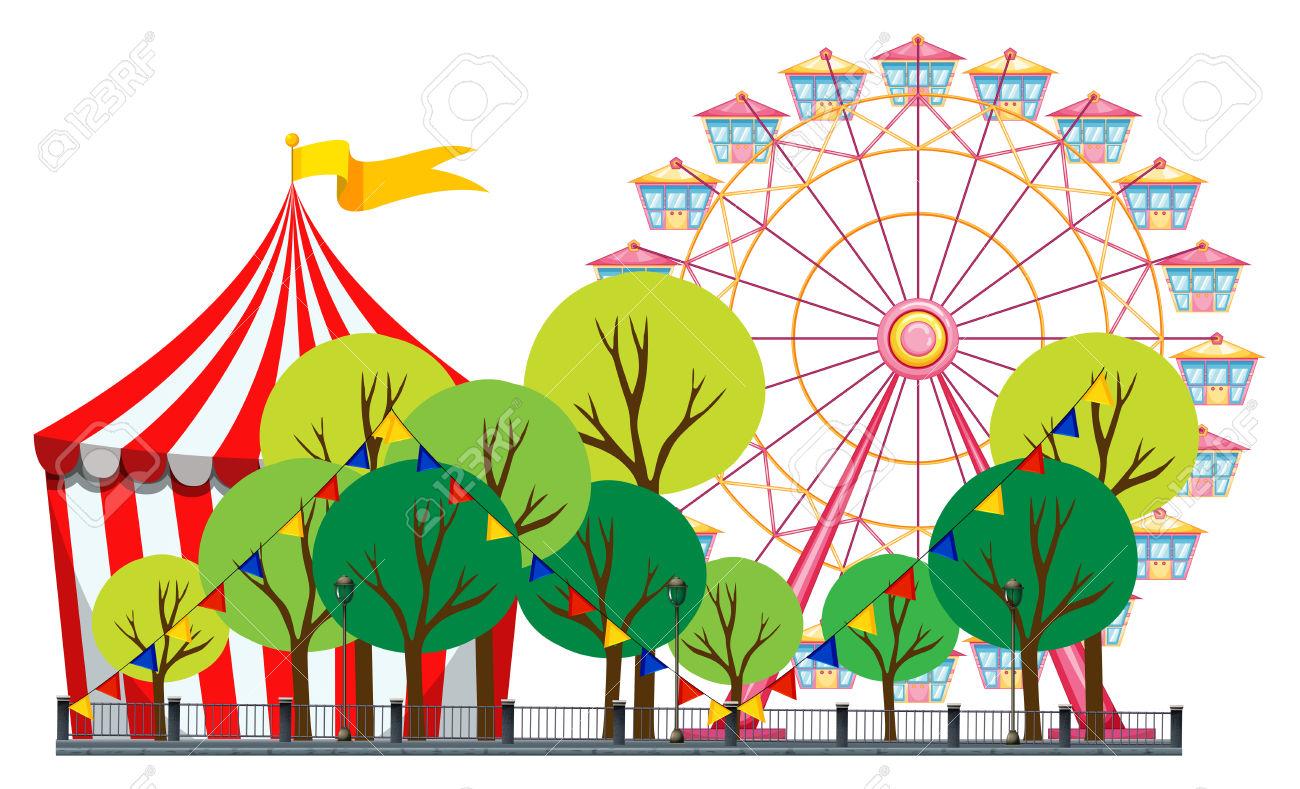 1300x789 Amusement Park Clipart Theme Park