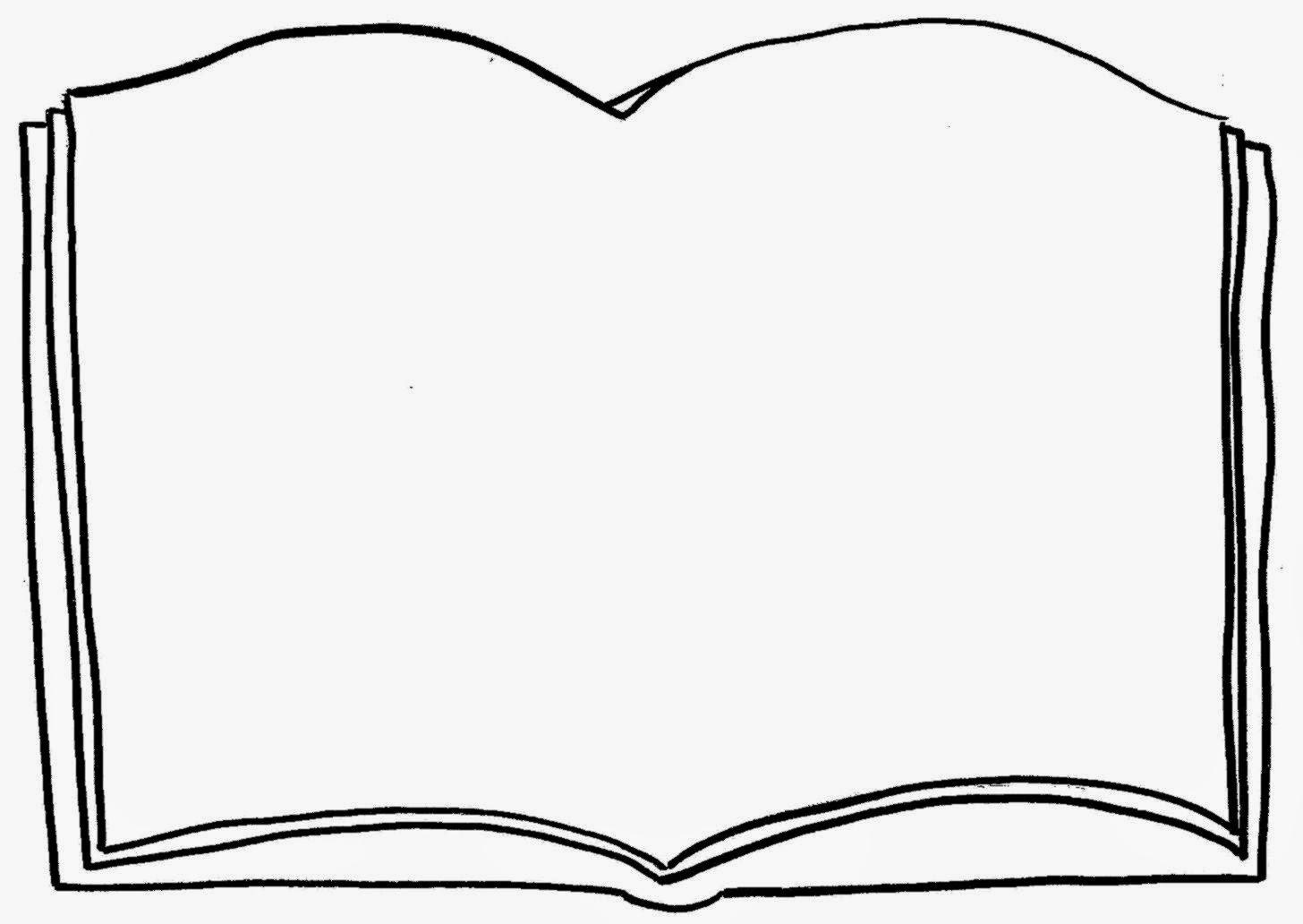 Pages booklet. An open book clipart