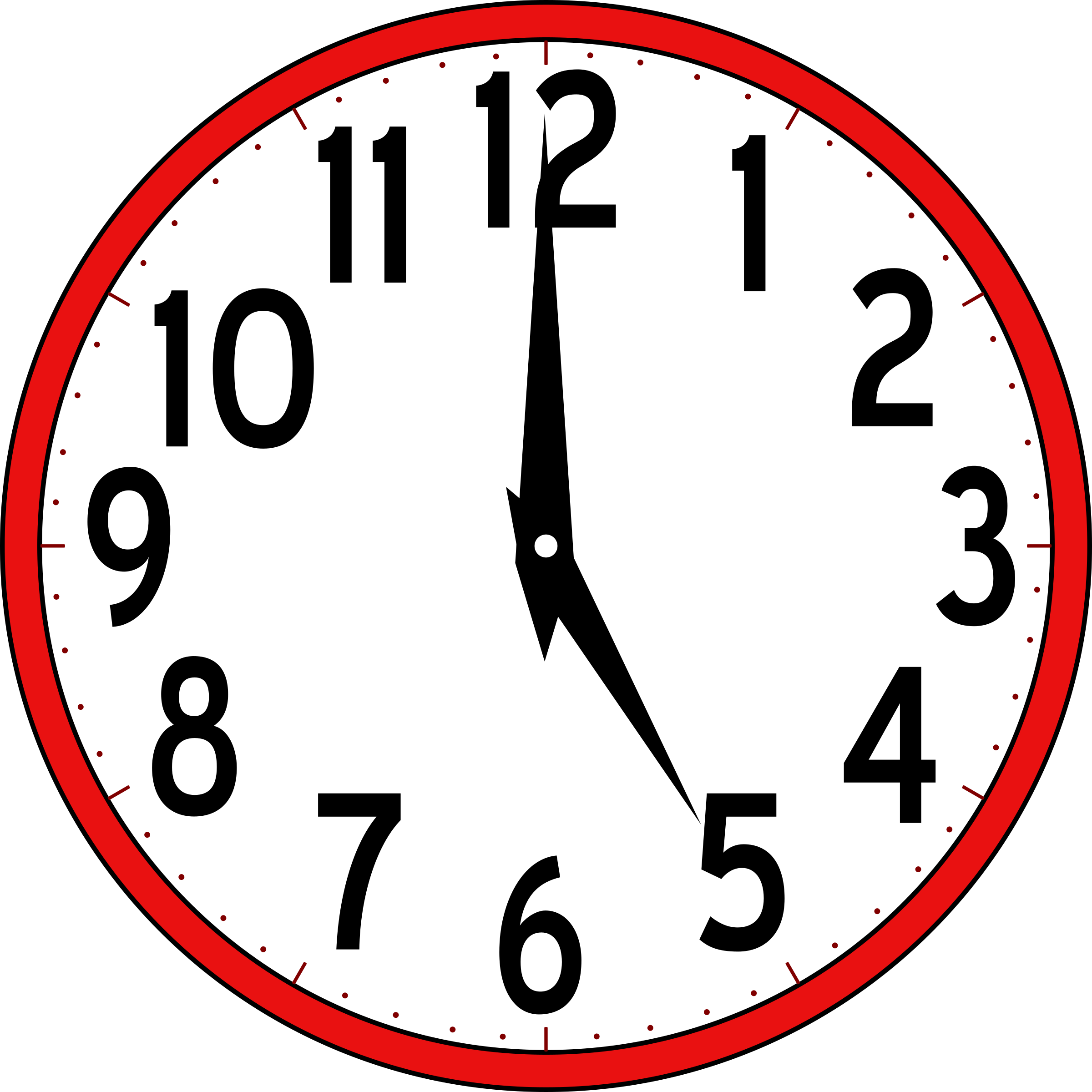 2400x2400 Clock Clip Art Without Hands Free Clipart Images