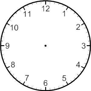 300x300 Analog Clock Clipart Clipart Panda