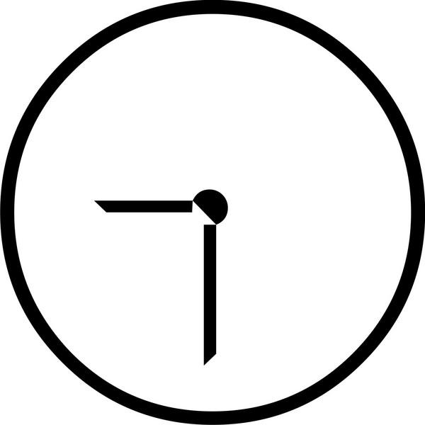 600x600 Clock Clipart Number
