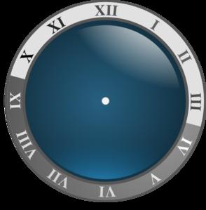 294x299 Blue Clock No Hands Clip Art