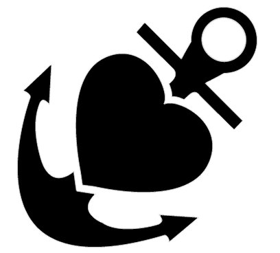 408x368 Clipart Anchor Silhouette Jpeg
