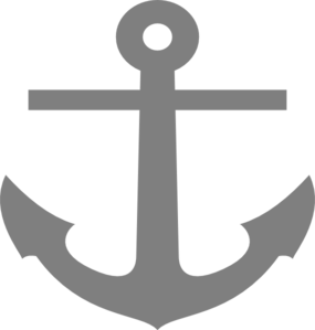 285x299 Gray Anchor Clip Art