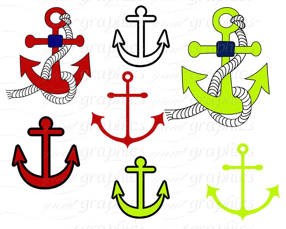 1000x800 Nautical Clip Art, Nautical Digital, Anchor Clipart, Nautical