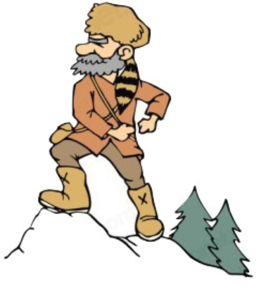 532x592 Mountain Man Clipart