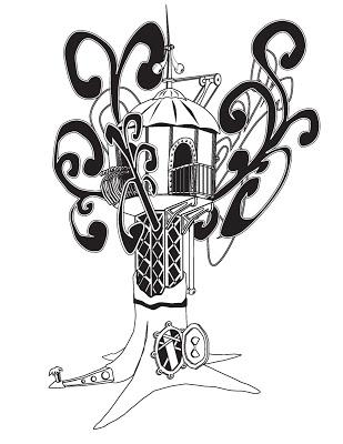 309x400 Steam Punk Treehouse