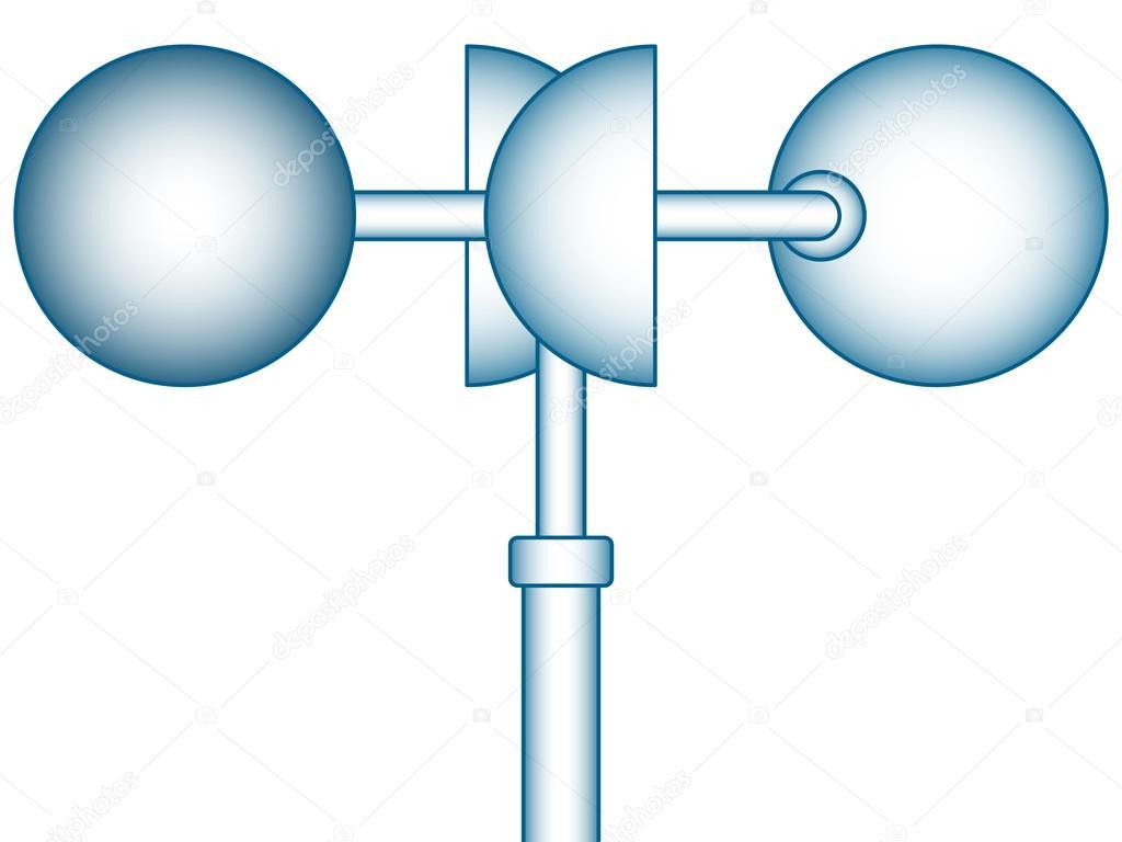 1024x768 Wind Anemometer Icon Stock Vector Alexanderzam