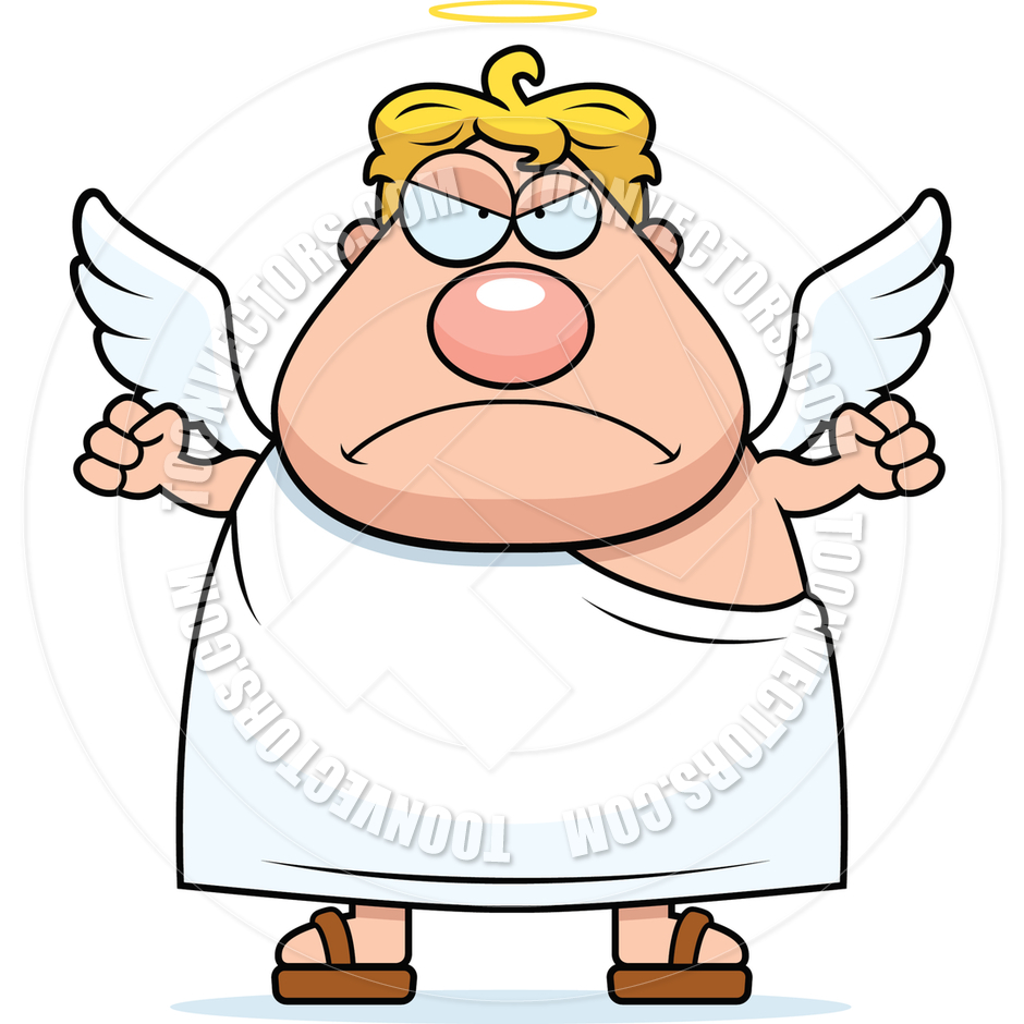 940x940 Cartoon Angel Angry By Cory Thoman Toon Vectors Eps