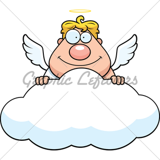 325x325 Cartoon Angel Confused Gl Stock Images