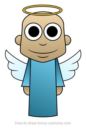 300x463 Drawn Angel Cartoon