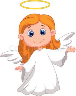 254x320 Vector Illustration Of Cute Cartoon Angel Stock Vector Colourbox
