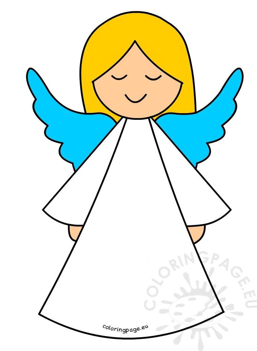 821x1122 White Angel Cartoon Coloring Page
