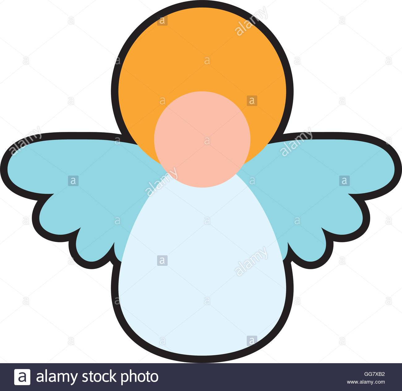 1300x1265 Angel Cartoon Fairy Wing Heaven Icon. Vector Graphic Stock Vector