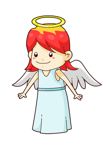 445x591 Angel Cartoon Clip Art
