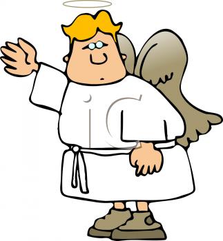 323x350 Cartoon Angels Clipart