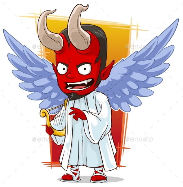 590x605 Cartoon Red Evil Angel Of Hell By Gb Art Graphicriver