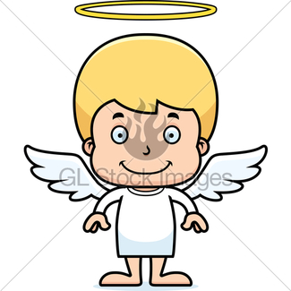 325x325 Cartoon Smiling Angel Girl · GL Stock Images