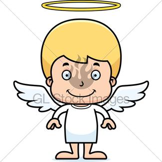 325x325 Cartoon Smiling Angel Girl Gl Stock Images