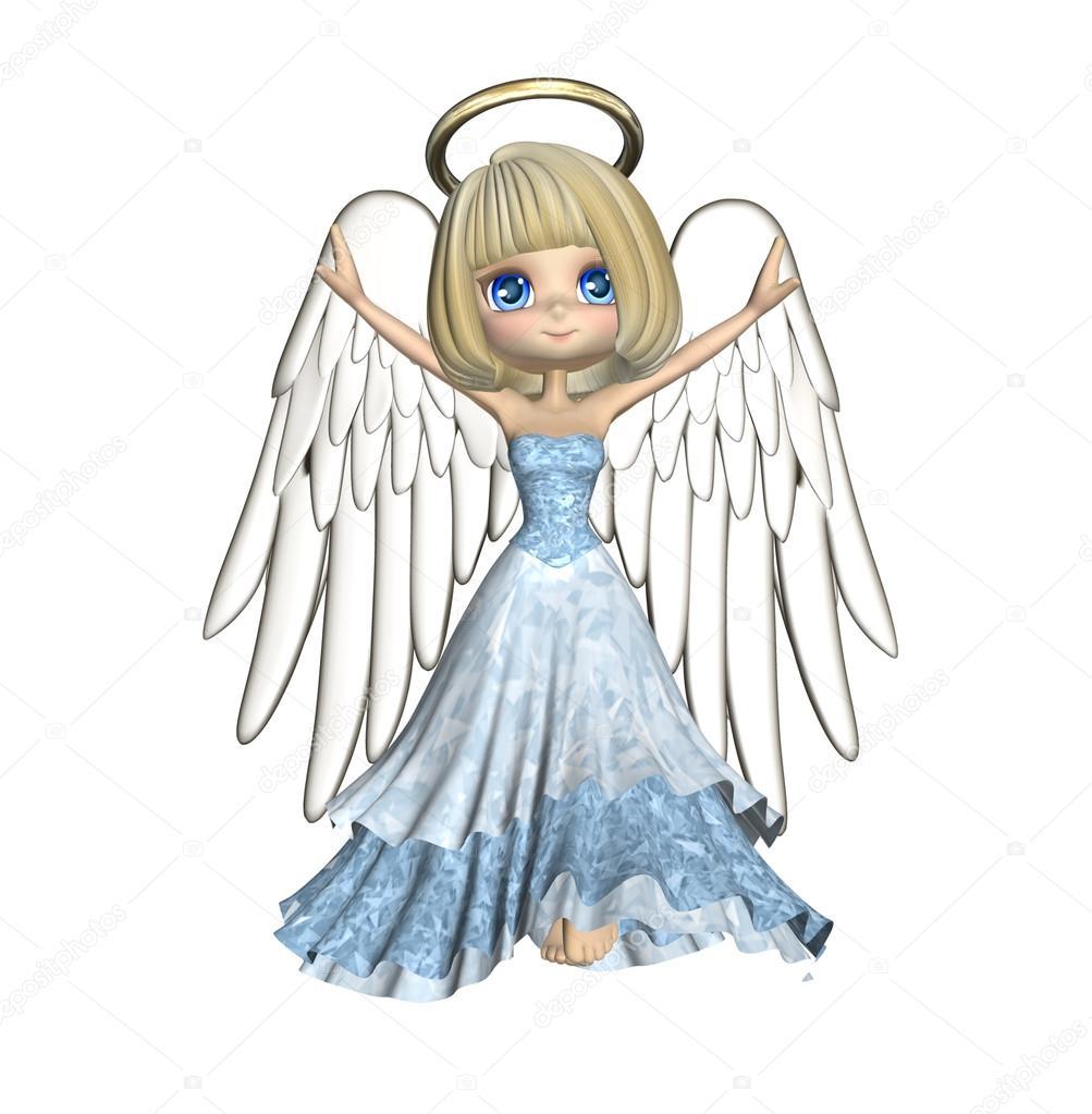1003x1023 Cute Angel Cartoon Stock Photo Deaddogdodge